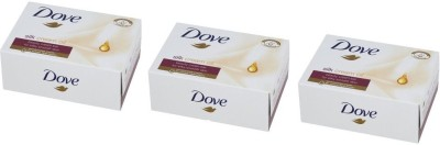 Dove Silk CreamOil Beauty Bar (Pack of 3)