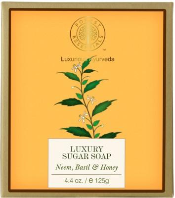Forest Essentials Luxury Sugar Soap Neem, Basil & Honey