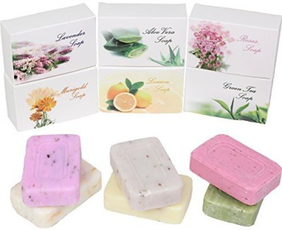 Luxehome Assorted Series 100% Nature Oil Guest Soap Gift Set Pack of 6 (Plant Series)