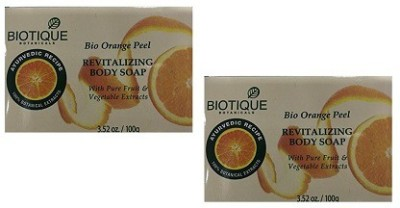 Biotique Bio Orange Peel Body Soap(Pack Of 2 )