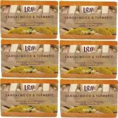 Lass Naturals Pack of 12 Lass Naturals LASS SANDALWOOD & TURMERIC SOAPS