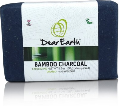 Dear Earth Dear Earth Bamboo Charcoal Exfoliating Organic & Vegan Soap, 150g