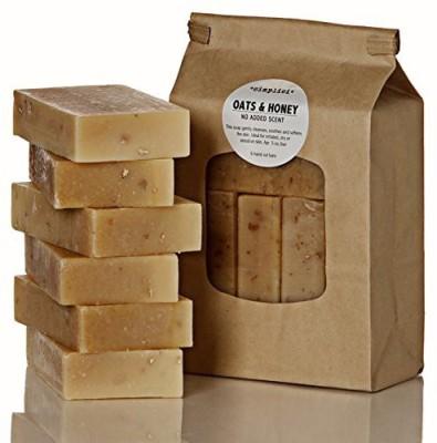 Simplici Oats & Honey Soap Value Bag (6 Unscented Bars)