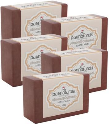 Purenaturals Butter Soap Almond Oatmeal - 125g (Set of 5)