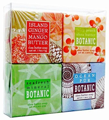 Mountain Country Soap Tropical Breeze Soap Sampler - Boxed Set of 4 Assorted Scents