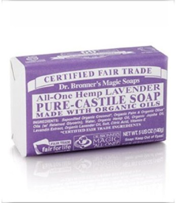 Dr. Bronner's Bar Soap Organic Lavender ( Pack of 2 )