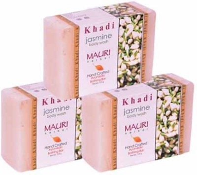 Khadimauri Jasmine Soap - Pack of 3 - Premium Handcafted Herbal