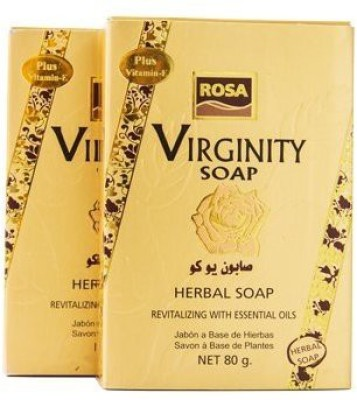 ROSA Rosa Virginity Soap Bar Feminine Tighten with Gift Box 2 Pack