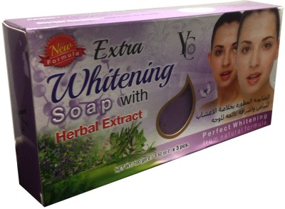 YC Extra Whitening Soap With Herbal Extract Pack Of 3