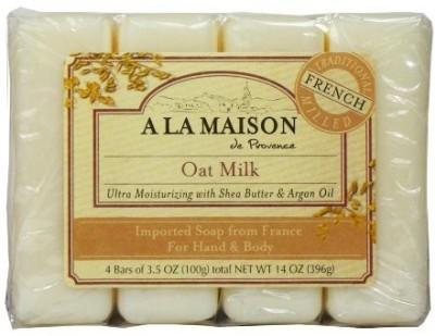 A La Maison Soap Bars Value Pack Oat Milk 4 Count