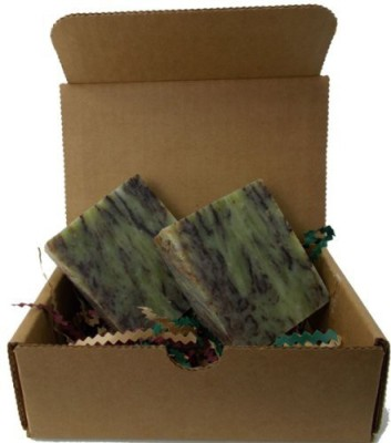 YANKEETRADERS Mint Chocolate Swirl Natural Soap - Handmade All Natural - Vegan / 2 Bars