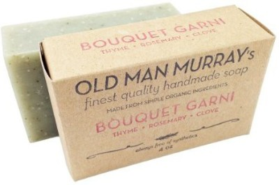 Old Man Murray's Bouquet Garni All-Natural Soap (2 Bars) - Thyme Rosemary Clove - Handmade w/ Simple Organic Ingredients - No Parabens Alcohol Petroleum Artificial Dyes or Fragrances
