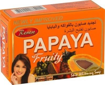 Renew papaya fruity skin whitening soap 101% original