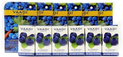 Vaadi Herbals Blueberry Facial Bars with Extract of Mint - Pack of 6