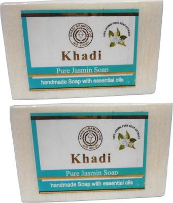 Khadi Herbal NaturalPure Jasmine Soap Pack Of 2