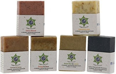 Delights of the Earth Soap Bar Variety Pack - All Natural Hand Poured Soap Bars - 6 Different Relaxing Scented Soaps