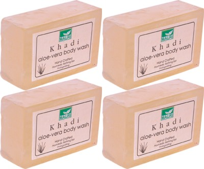 Khadimauri Aloe-Vera Soaps - Pack of 4 - Premium Handcrafted Herbal