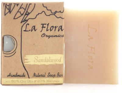 La Flora Organics Sandalwood soothing handmade soap bar