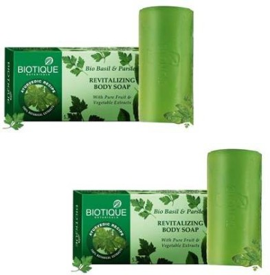 Biotique Basil & Parsley Body Soap(Pack Of 2 )