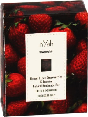Nyah Honey! I Love Strawberries & Jasmine Natural Handmade Bar