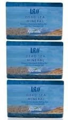 Lass Naturals Pack of 3 Lass Naturals LASS DEAD SEA MINERAL SOAP