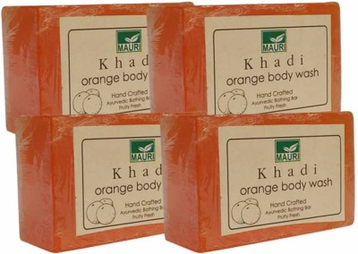 Khadimauri Orange Soap - Pack of 4 - Premium Handcrafted Herbal
