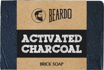 Beardo ACTIVATED CHARCOAL Brick Soap – 125g