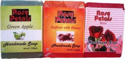 Anamis Handmade Soaps -Green Apple, Saffron With Honey And Rose