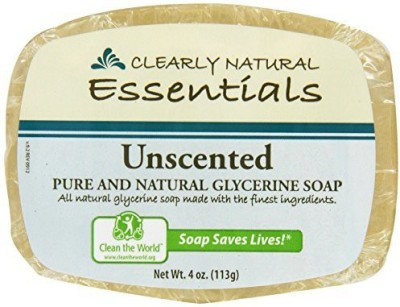 Clearly Natural : Glycerine Soap Unscented (4 pack)