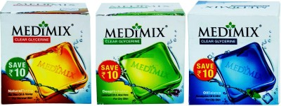 Medimix Natural Toning,Oil Balance And Deep Hydration Soap 100 gm*3