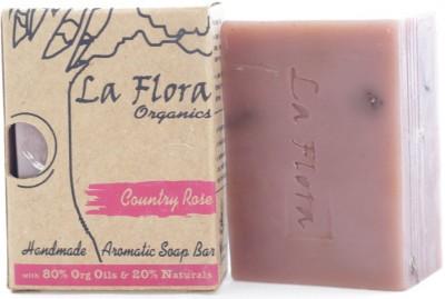 La Flora Organics Country rose aromatic handmade soap bar