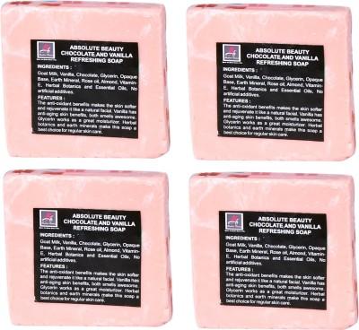Absolute Beauty Chocolate & Vanilla Whitening Glow Skin Care Handmade Fairness Soap Combo-4