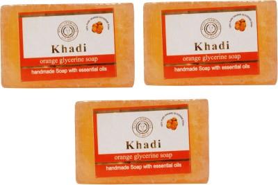 Khadi Herbal NaturalOrange Glycerine Soap Pack Of 3