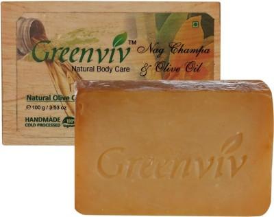 Greenviv Natural Nag Champa & Olive Oil Soap