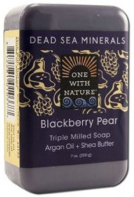 One With Nature Blackberry Pear Dead Sea Mineral Soap Bar