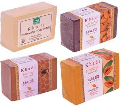 Khadimauri Winter Care Combo Pack - Almond Honey Aloe-Vera Papaya Body Wash Soap