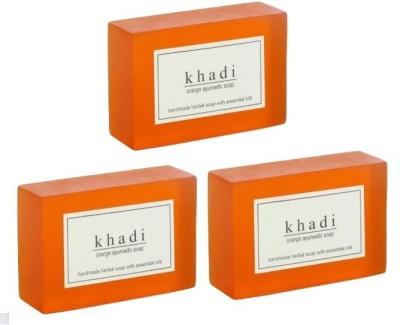 Khadi Herbal NaturalOrange Soap - Pack of 3