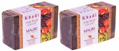 Khadimauri Mix Fruit Soap - Pack of 2 - Premium Handcafted Herbal