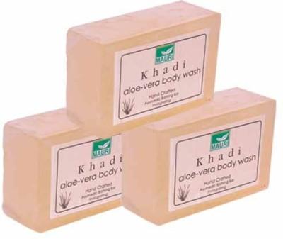 Khadimauri Aloe Vera Soap - Pack of 3 - Premium Handcafted Herbal