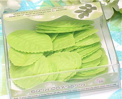 Sophie,s Favors Green Leaf Soap Confetti (45 green soap leaves per box)
