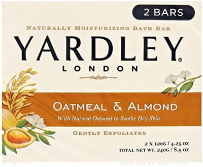 Yardley London Soap Bath Bar Oatmeal & Almond (Pack of 8)