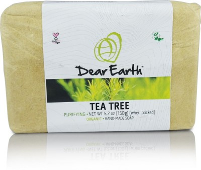 Dear Earth Dear Earth Tea Tree Purifying Organic & Vegan Soap, 150g