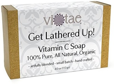 Vi-Tae Certified Organic VITAMIN C Soap - by - 100% Pure All Natural Aromatherapy Herbal Bar Soap