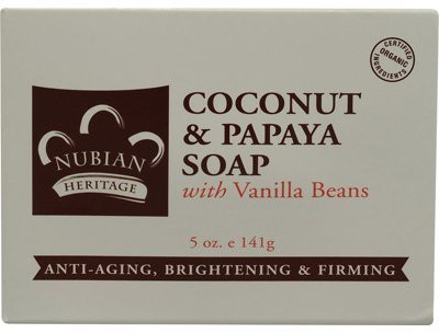 Nubian Heritage Bar Soap Coconut And Papaya with Vanilla Beans Pack of 1