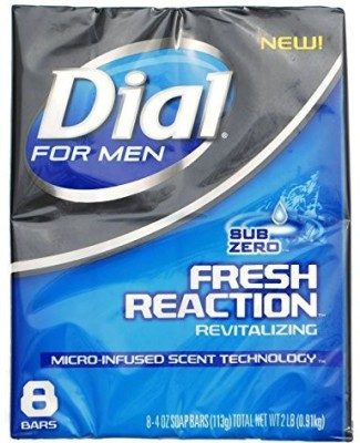 Dial for Men Fresh Reaction Sub Zero Glycerin Bar Soap Bars 8 Ct.