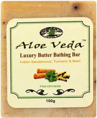 Aloe Veda Luxury Butter Bathing Bar - Sandalwood & Turmeric