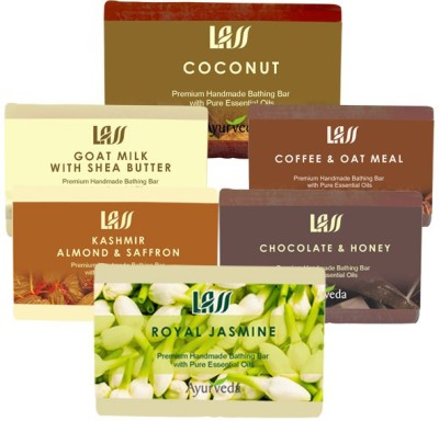 Lass Naturals Dry Pack ( Almond and Saffraon Milk ,Chocolate honey,Coffee and Oat,Goat Milk,Coconut,Royal Jasmin )