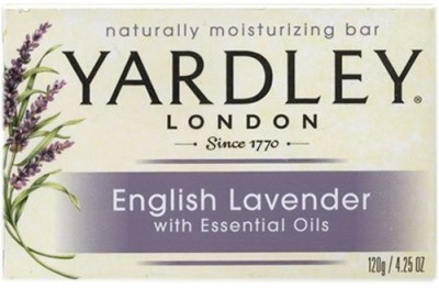 Yardley Bar Soap - English Lavender with Essential Oils Bar (Pack of 3)