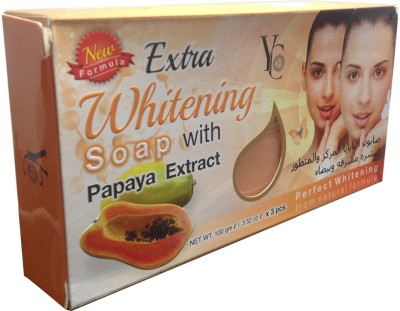 YC Extra Whitening Soap With Papaya Extract Pack Of 3
