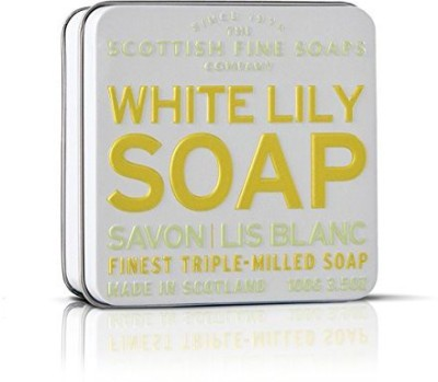 Scottish Fine Soaps Vintage Fragrances Soaps in a Tin White Lily